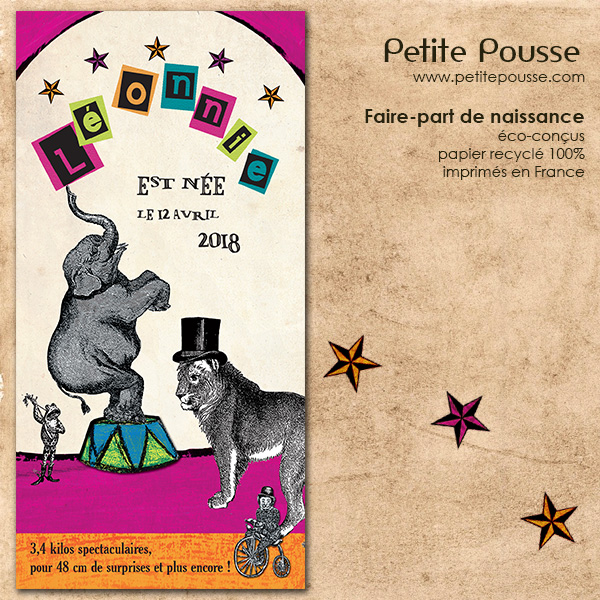 Faire-part Cirque Pepsy