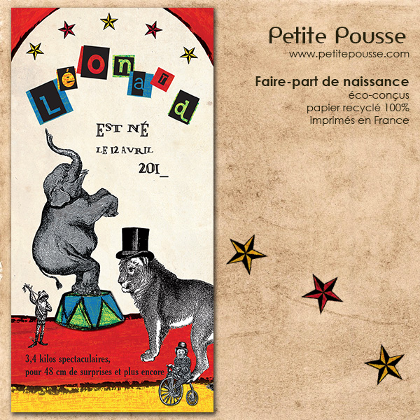 Faire-part Cirque Rouge